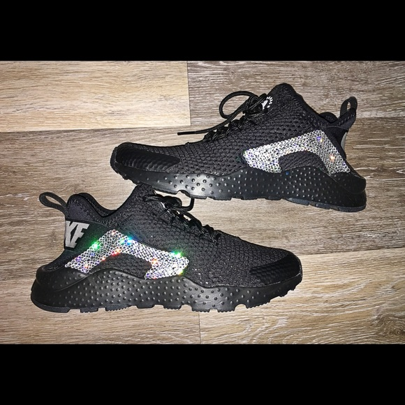 Swarovski Crystal Nike Air Huarache Bling Shoes 8d1c86452a